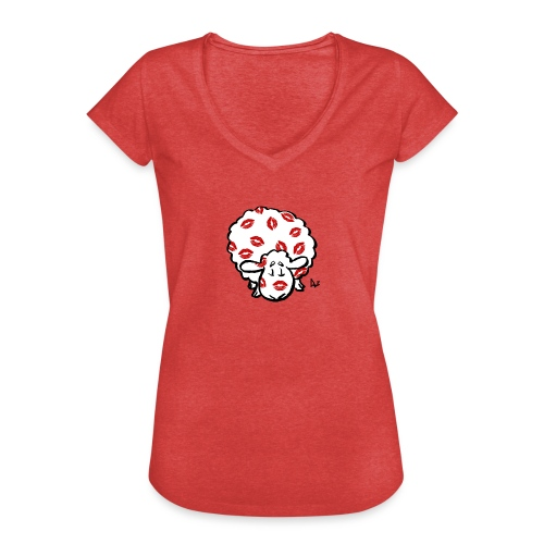 Kuss Mutterschaf - Frauen Vintage T-Shirt