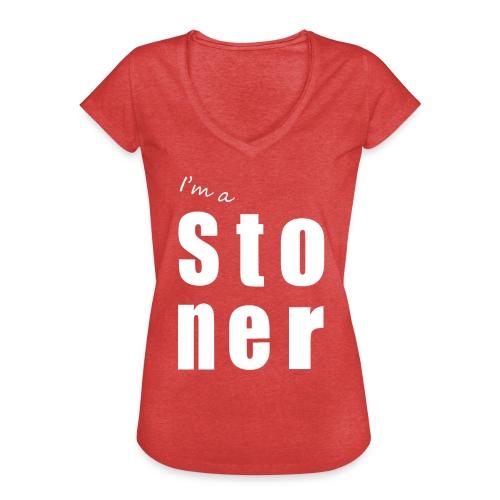 I m a stoner - T-shirt vintage Femme