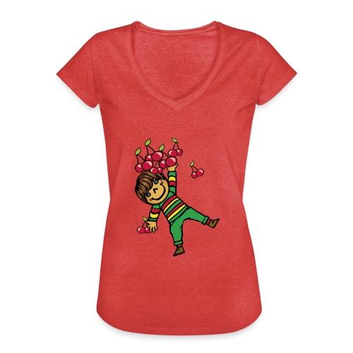 08 kinder kapuzenpullover hinten - Frauen Vintage T-Shirt