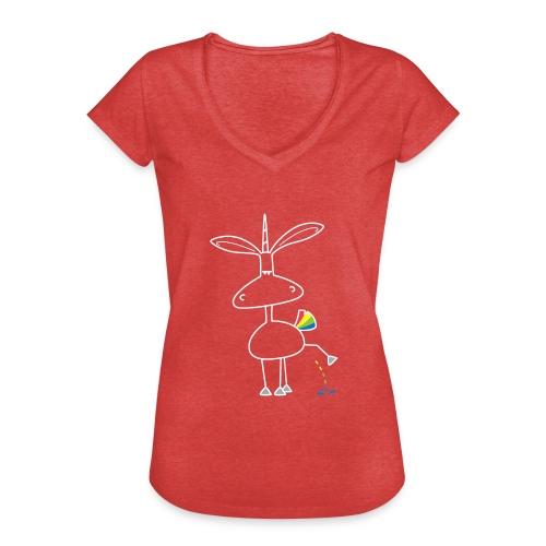 Dru - bunt pinkeln - Frauen Vintage T-Shirt