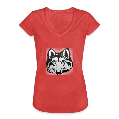 Wolfie (Red) - Women's Vintage T-Shirt