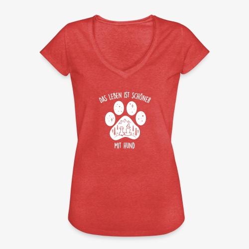 Leben mit Hund - Frauen Vintage T-Shirt