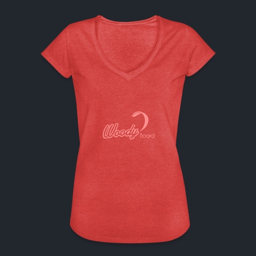 Logo Woodyboard Blanc - T-shirt vintage Femme