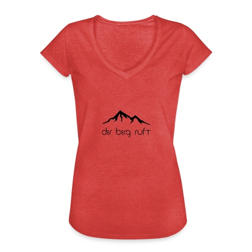 Der Berg ruft schwarz - Frauen Vintage T-Shirt