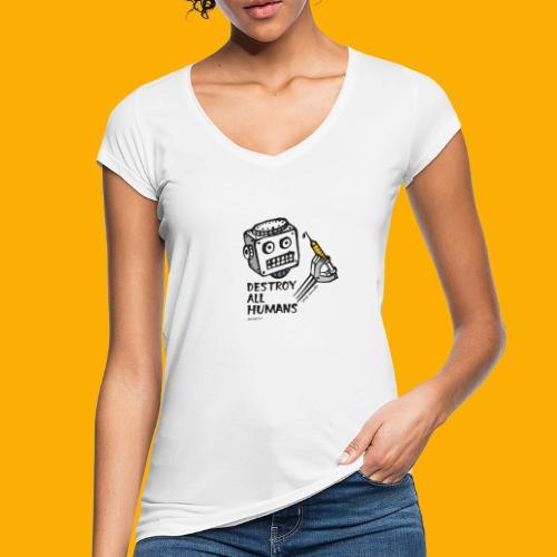 Dat Robot: Destroy Series All Humans Light - Vrouwen Vintage T-shirt