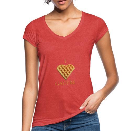 i love gaufre - T-shirt vintage Femme