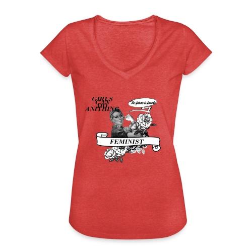FEMINIST - T-shirt vintage Femme