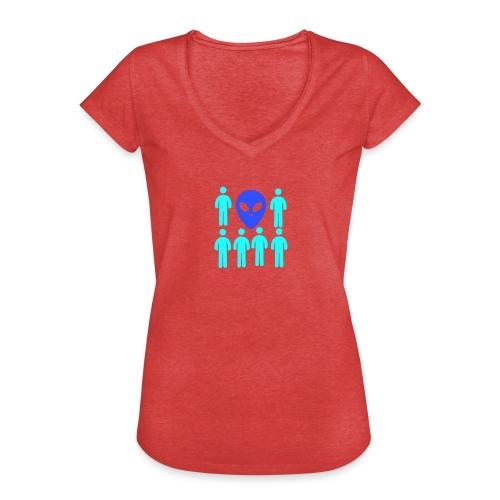 Extraterestre y Humano - Camiseta vintage mujer