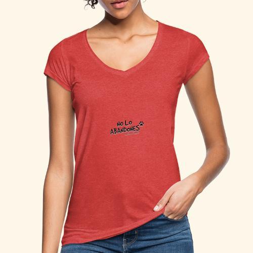 noloabandones negro - Camiseta vintage mujer