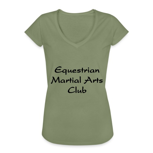 EMAC_logo_teksti - Naisten vintage t-paita