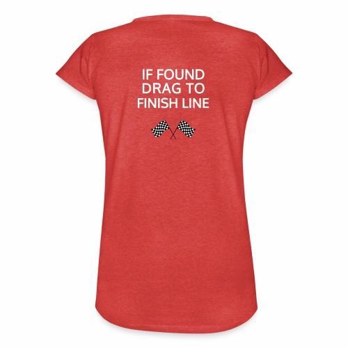 If found, drag to finish line - hardloopshirt - Vrouwen Vintage T-shirt