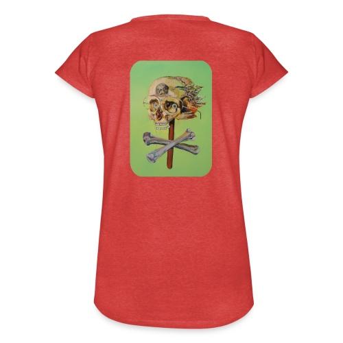 oil painting of skull and bones - Vrouwen Vintage T-shirt