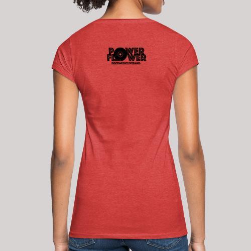 Logo PowerFlower Nero - Maglietta vintage donna