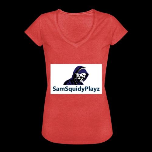 SamSquidyplayz skeleton - Women's Vintage T-Shirt