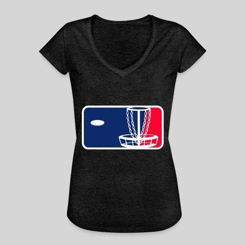 Major League Frisbeegolf - Naisten vintage t-paita