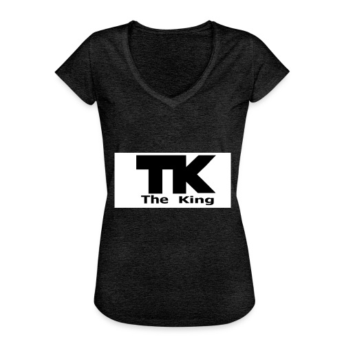 The King med ram - Vintage-T-shirt dam
