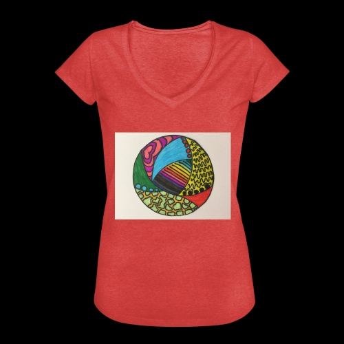 circle corlor - Dame vintage T-shirt