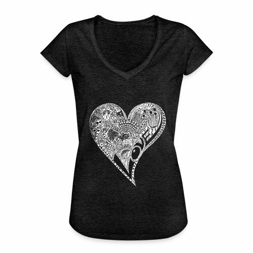 Heart white - Frauen Vintage T-Shirt
