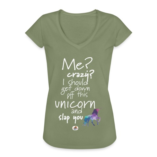 Crazy Unicorn - Light with picture - Women's Vintage T-Shirt