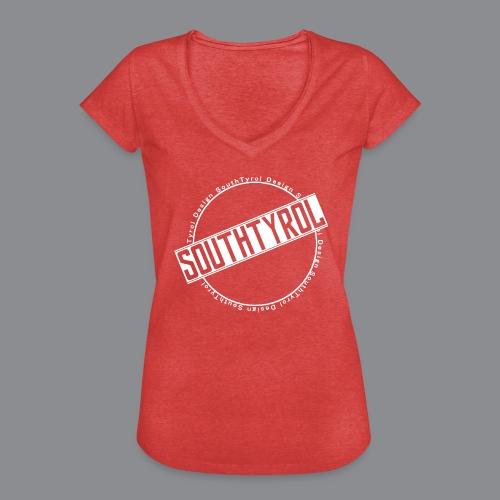 SouthTyrol Kreis weiß - Frauen Vintage T-Shirt