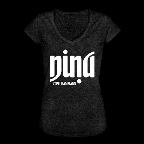Ambigramm Nina 01 Pit Hammann - Frauen Vintage T-Shirt