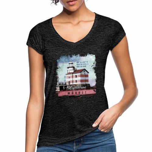 Märket majakkatuotteet, Finland Lighthouse, väri - Naisten vintage t-paita