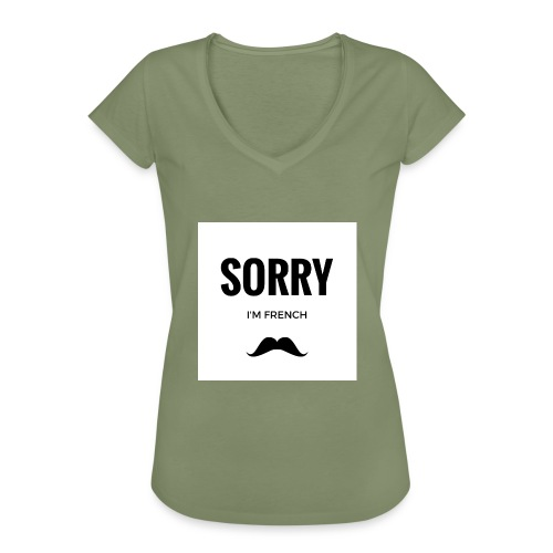 SORRY, i am french - T-shirt vintage Femme