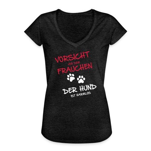 Vorschau: Vorsicht vor dem Frauchen - Frauen Vintage T-Shirt