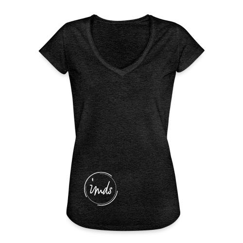 logo signature blanc - T-shirt vintage Femme