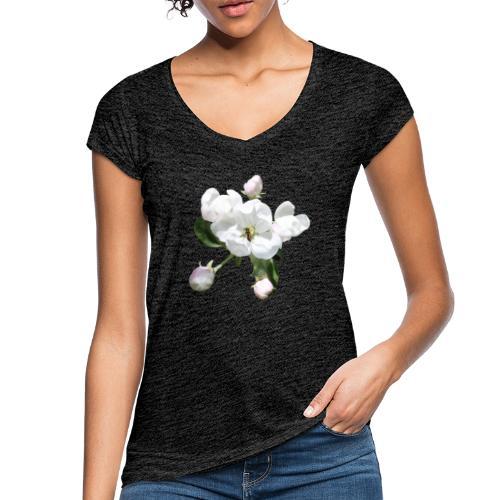 Omenankukka ja kukkakärpänen - Naisten vintage t-paita