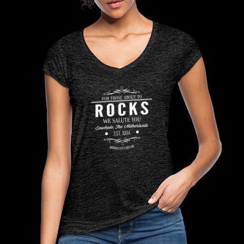 Vintage Rocks Label - Vrouwen Vintage T-shirt