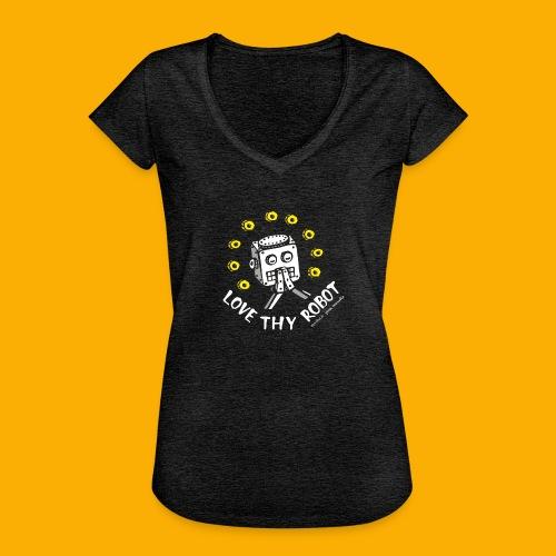 Dat Robot: Love Thy Robot Series Dark - Vrouwen Vintage T-shirt