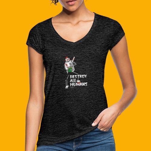 Dat Robot: Destroy Series Killer Clown Dark - Vrouwen Vintage T-shirt