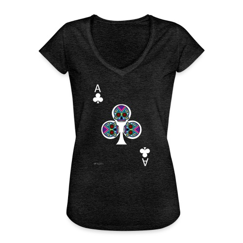 Ace of clubs - The skulls players - T-shirt vintage Femme