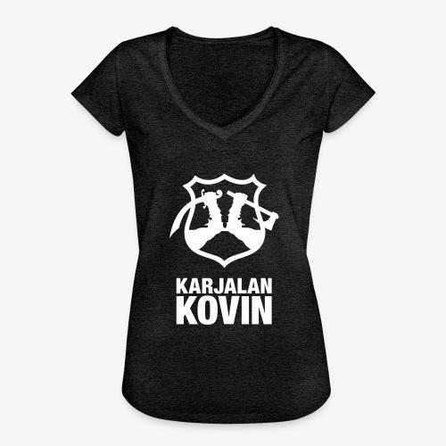karjalan kovin pysty - Naisten vintage t-paita