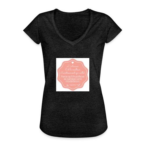 Amour - T-shirt vintage Femme