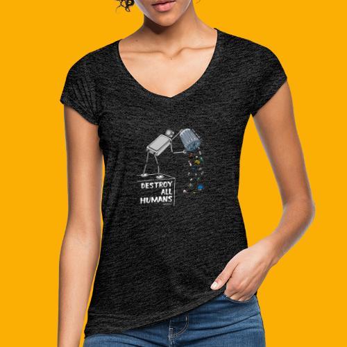 Dat Robot: Destruction By Pollution Dark - Vrouwen Vintage T-shirt