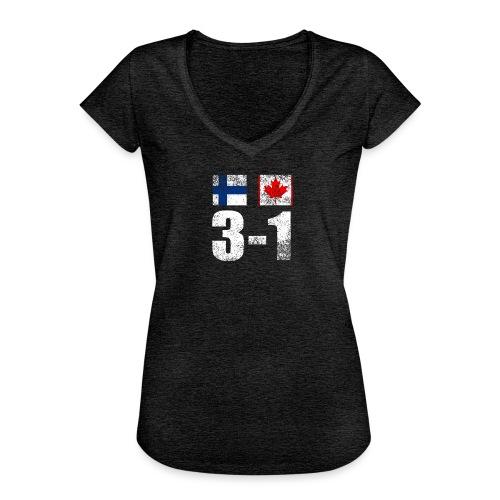 Suomi - Kanada - 3 - 1 - Naisten vintage t-paita