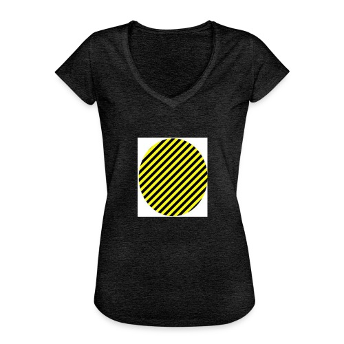 varninggulsvart - Vintage-T-shirt dam