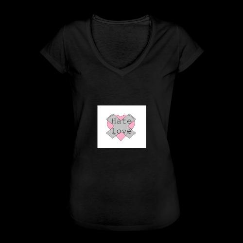 Hate love - Camiseta vintage mujer