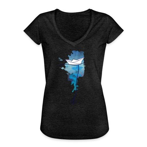 Papierschiff - Frauen Vintage T-Shirt