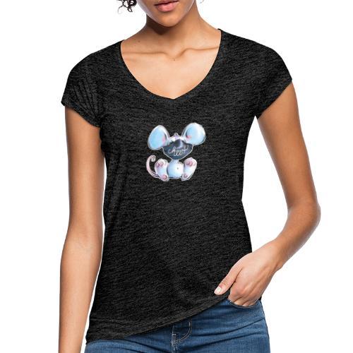 Maskenmaus - Frauen Vintage T-Shirt
