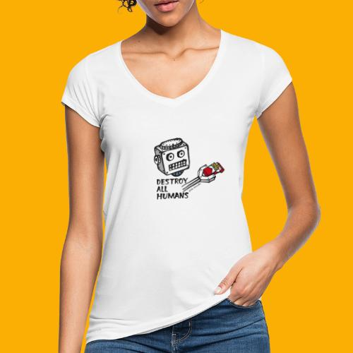 Dat Robot: Destroy Series Smoking Light - Vrouwen Vintage T-shirt