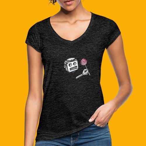 Dat Robot: Destroy Series Candy Light - Vrouwen Vintage T-shirt