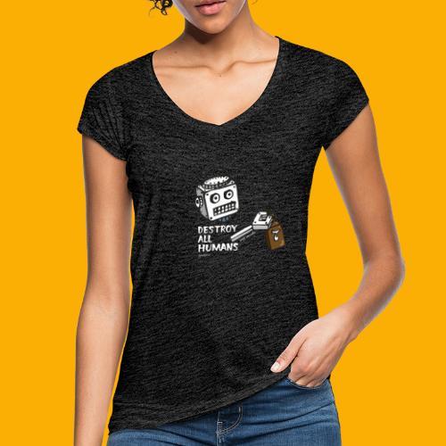 Dat Robot: Destroy Series Booze Light - Vrouwen Vintage T-shirt