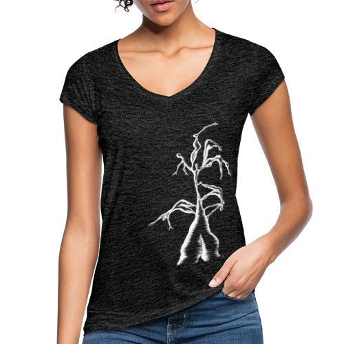 Die Zerrissenheit in weiß - Frauen Vintage T-Shirt