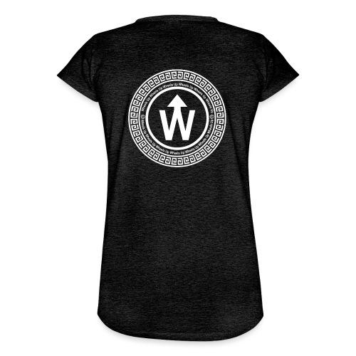 wit logo transparante achtergrond - Vrouwen Vintage T-shirt