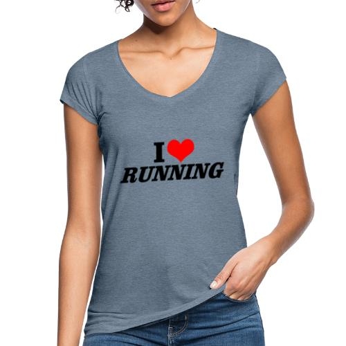 I love running - Frauen Vintage T-Shirt