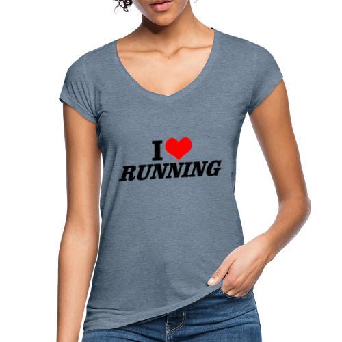 I love running - Frauen Vintage T-Shirt