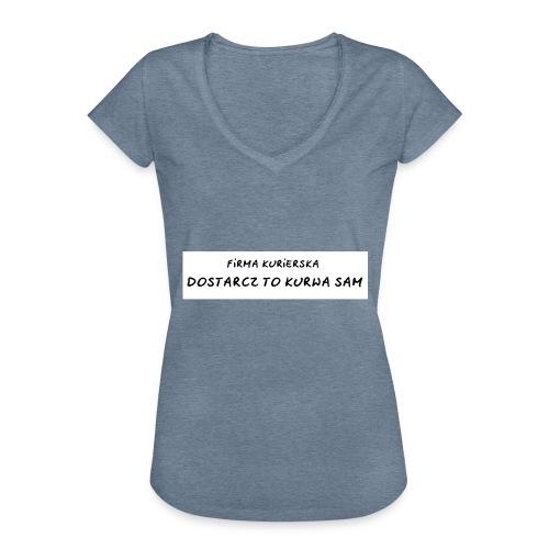 firma kurierska tyl - Koszulka damska vintage